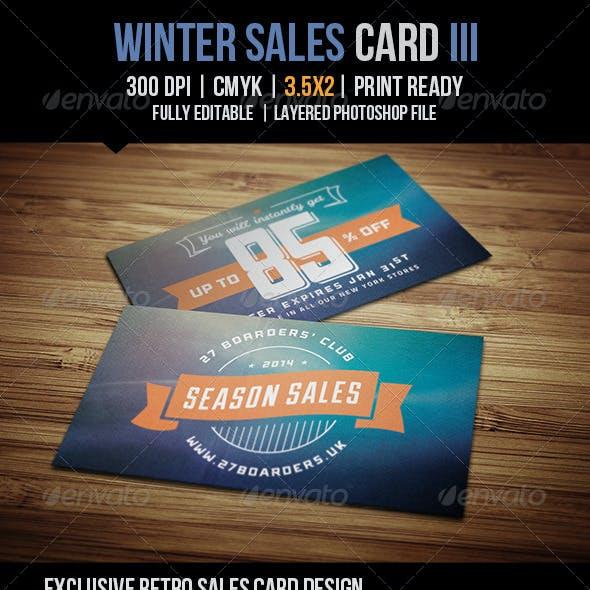 Winter Sales Card III