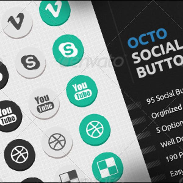 Octo Social Network Button