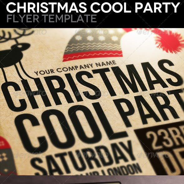 Christmas Cool Party Flyer Template