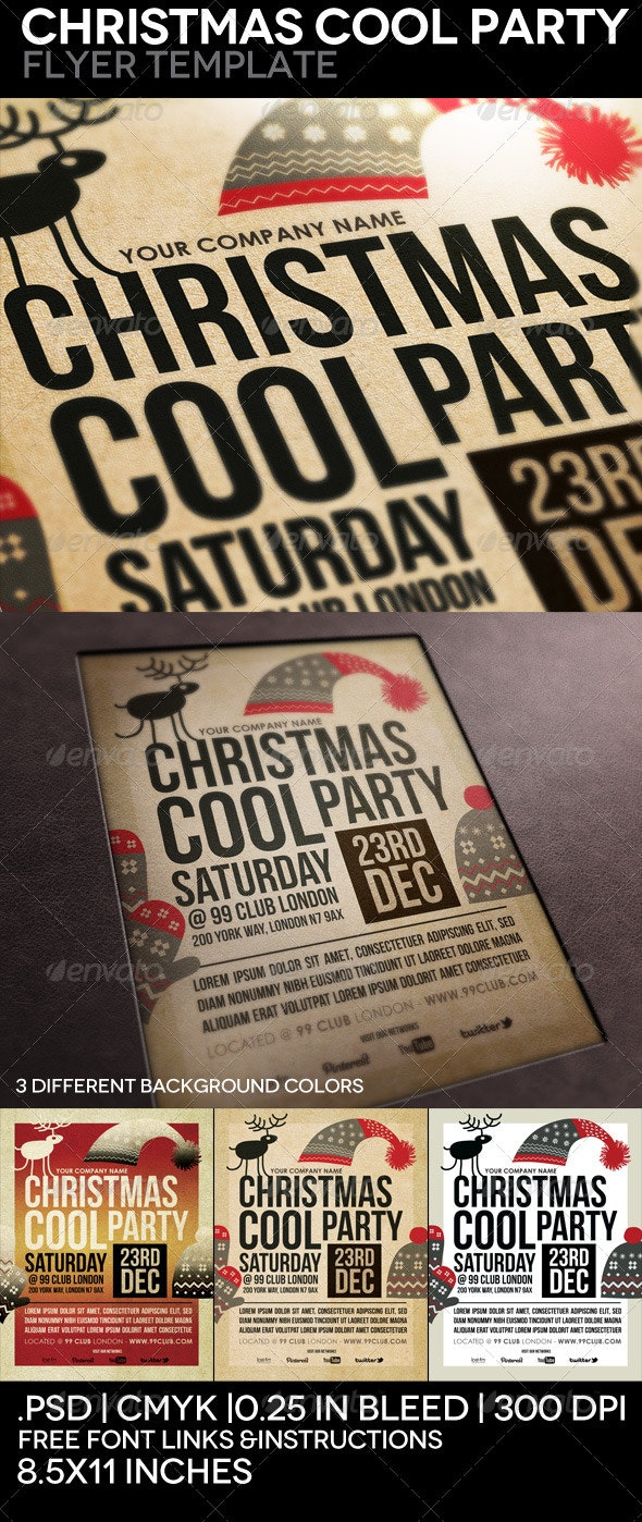 Christmas Cool Party Flyer Template - Events Flyers