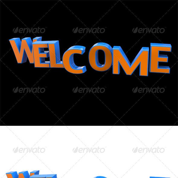 Welcome 3D Typo Title