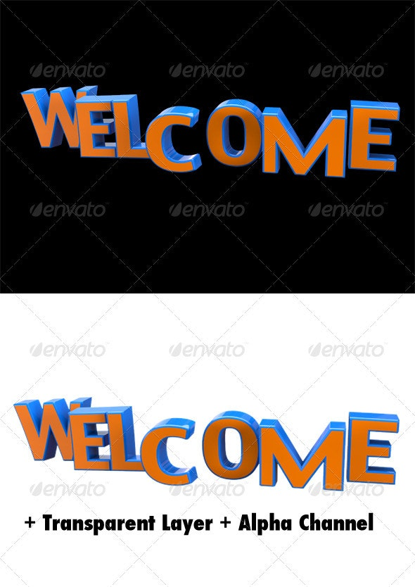 Welcome 3D Typo Title - Miscellaneous Graphics