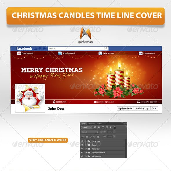 Christmas Candles Time Line Cover