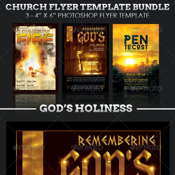 Holiness Church Flyer Template Bundle