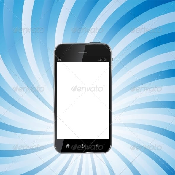 Abstract Design Realistic Mobile Phone with Blank