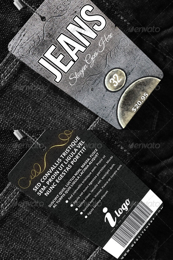 Apparel Tag Template - Miscellaneous Print Templates