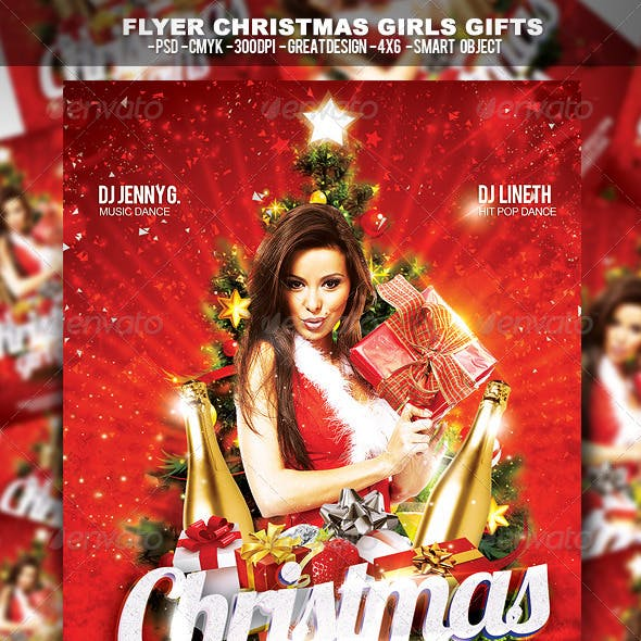 Flyer Christmas Girl Gifts