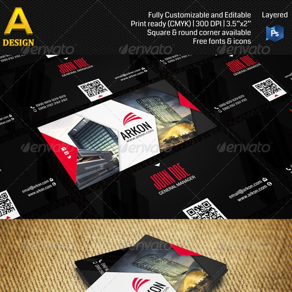 Architectural Corporate Business Card AN0125