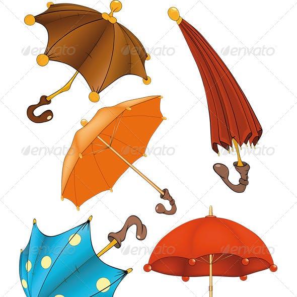 Umbrellas Clip Art Cartoon