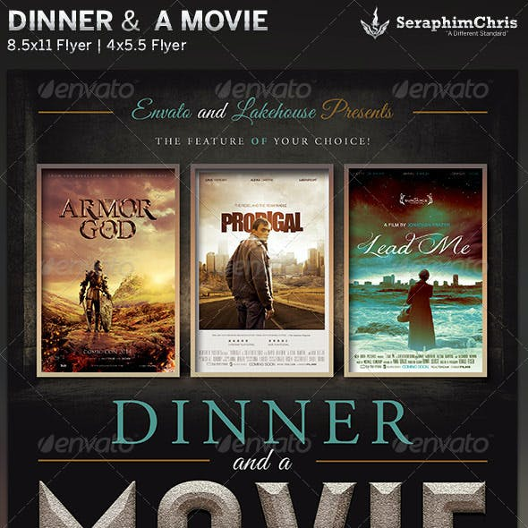 Dinner and a Movie Flyer Template