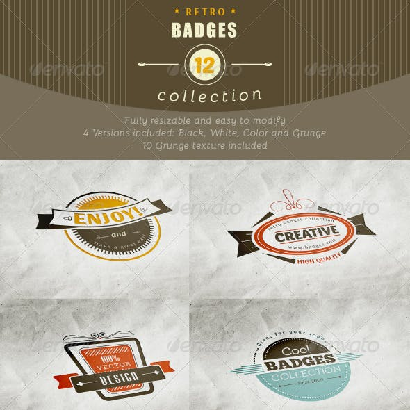 12 Retro and Vintage Badges
