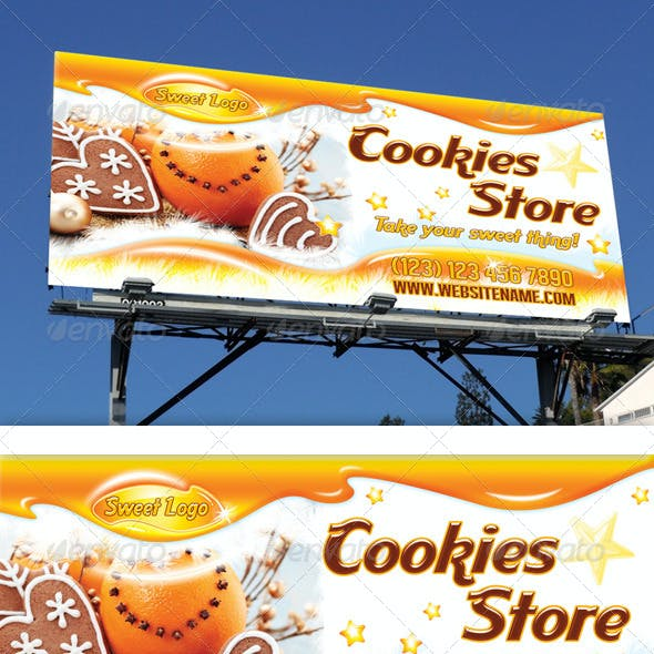 Cookies Shop Outdoor Banner 11