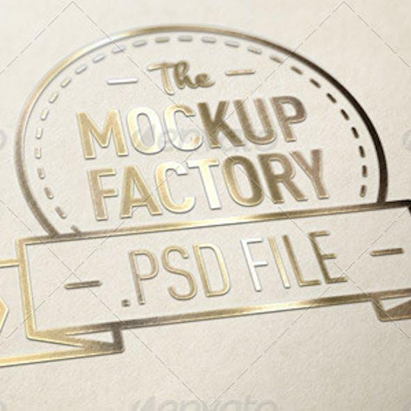 Gold Effect Logo MockUp