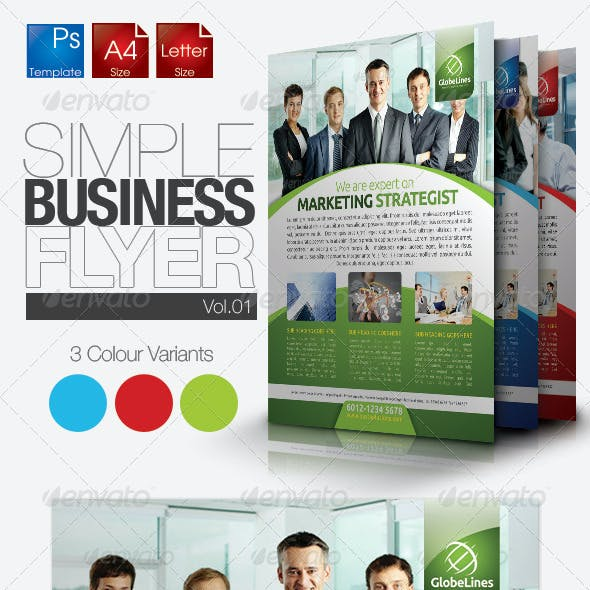 Simple & Clean Corporate Flyer