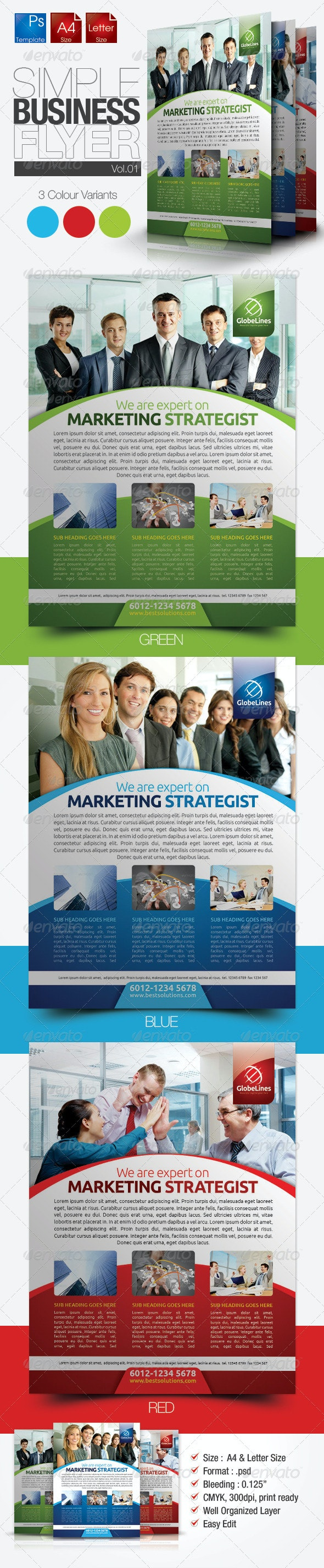 Simple & Clean Corporate Flyer - Corporate Flyers