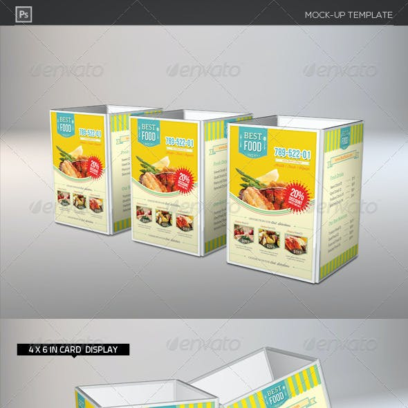 Table Tent Card Holder Mock-Ups