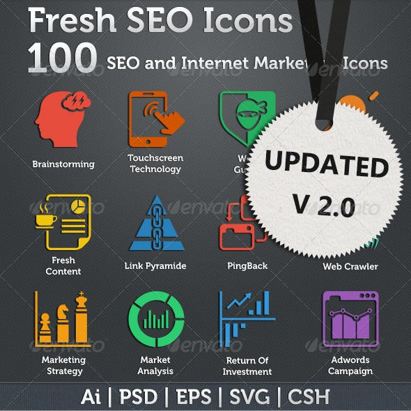 Fresh SEO Icons - SEO and Internet Marketing Icons