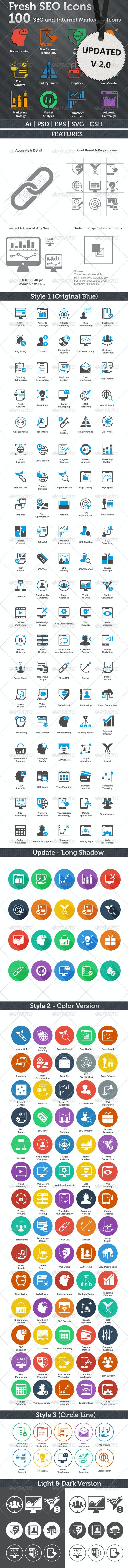 Fresh SEO Icons - SEO and Internet Marketing Icons - Icons