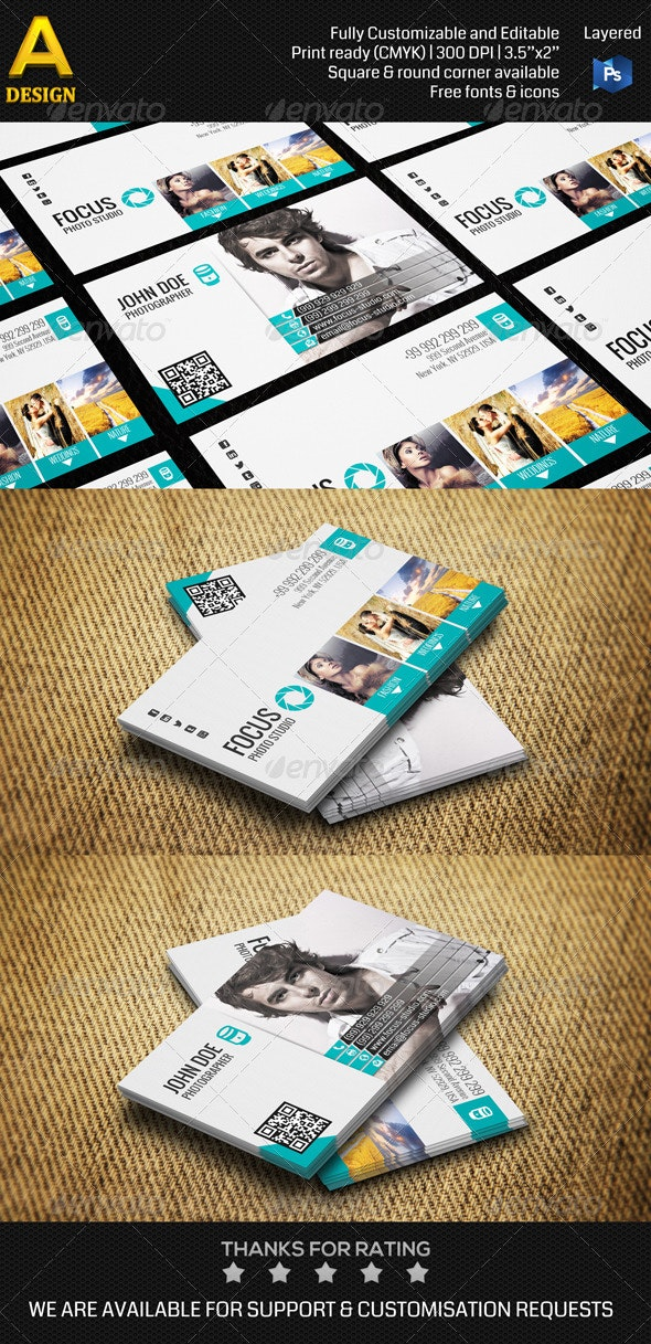 Photo Studio Business Card AN0113 - Industry Specific Business Cards