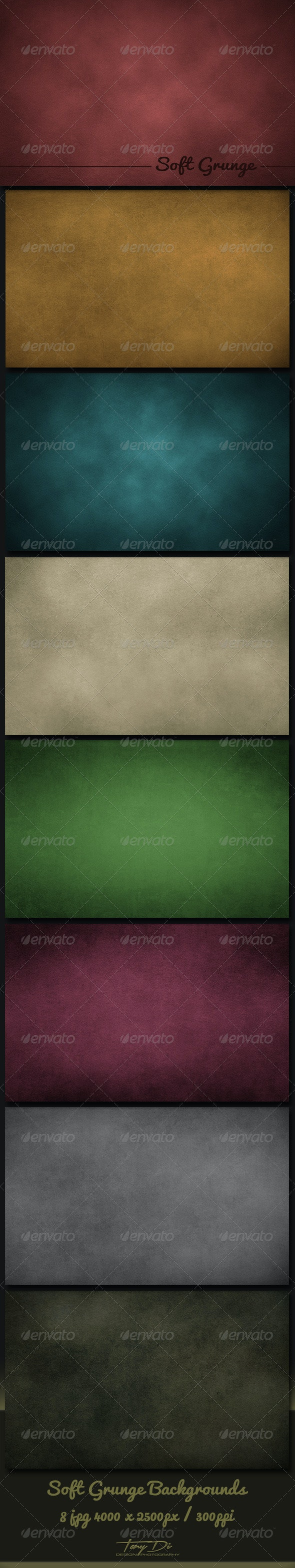Soft Grunge Backgrounds - Miscellaneous Backgrounds