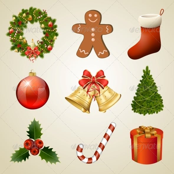 Christmas Design Elements and Icons.