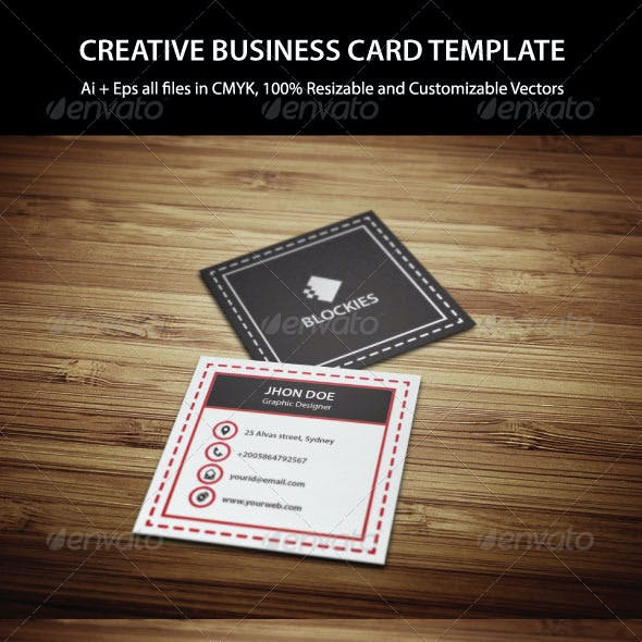 Exclusive Square Business Card Template