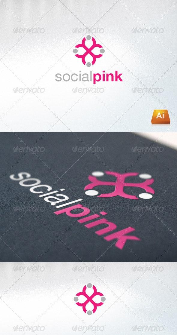 social pink - Humans Logo Templates