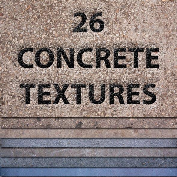 26 Concrete Textures