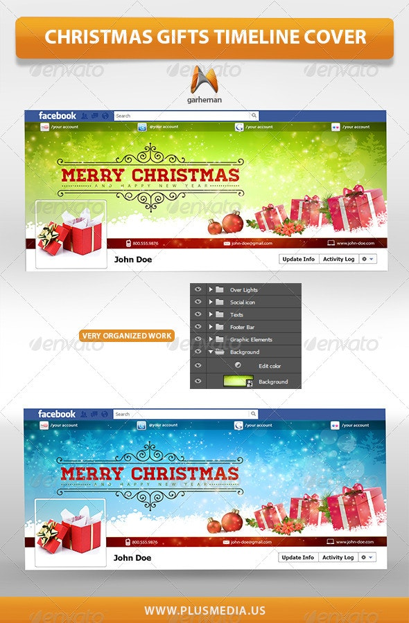 Christmas Gifts TimeLine Cover - Facebook Timeline Covers Social Media