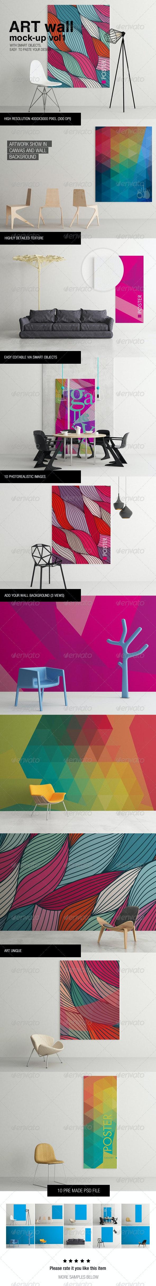 Art Wall Mock-up Vol.1 - Miscellaneous Displays