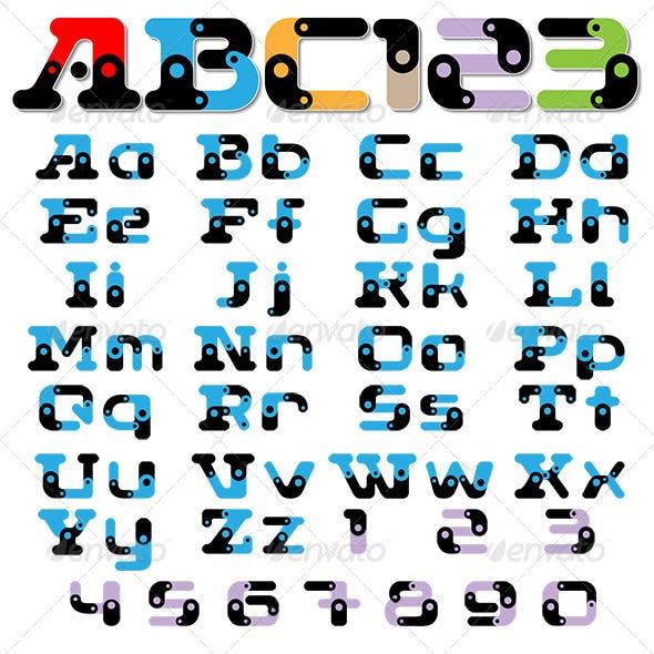 Sectional Font Alphabet