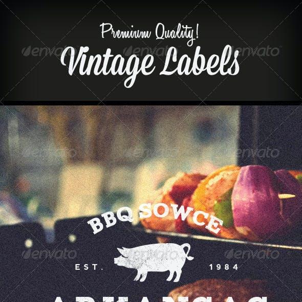 Premium Quality - 8 Vintage Labels / Col. N°4