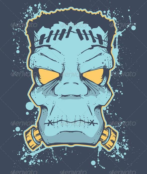 Frankenstein Halloween - Designs T-Shirts
