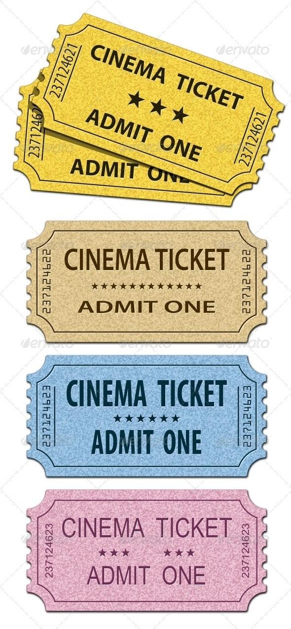 Cinema Tickets - Miscellaneous Vectors