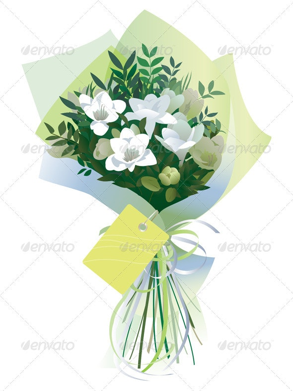 Bouquet of White Freesias - Flowers & Plants Nature