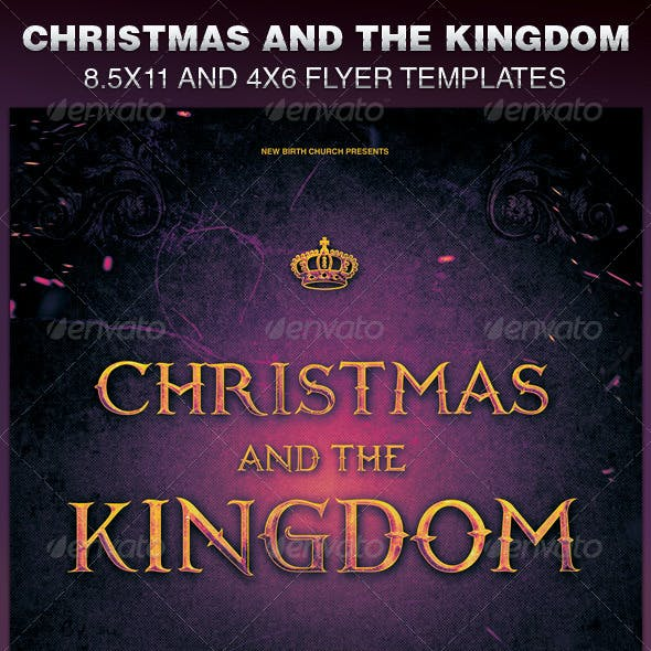 Christmas and the Kingdom Church Flyer Template