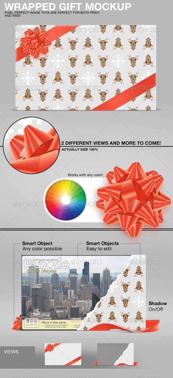 Wrapped Gift Mockup - Miscellaneous Packaging
