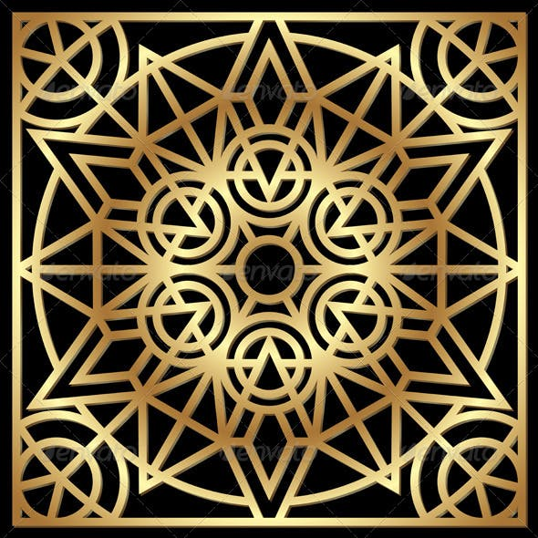 Golden Geometric Ornament