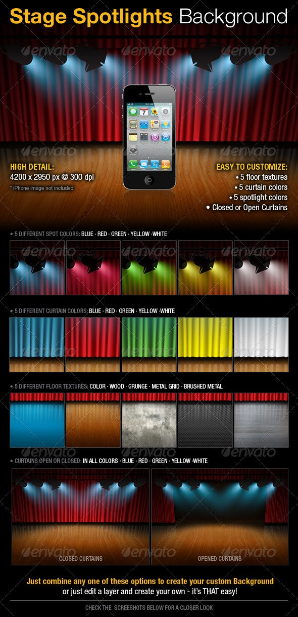 Stage Spotlights Background - Backgrounds Graphics