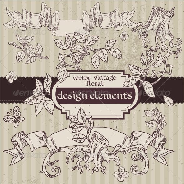 Vintage Magic Fairytale Floral Design Elements