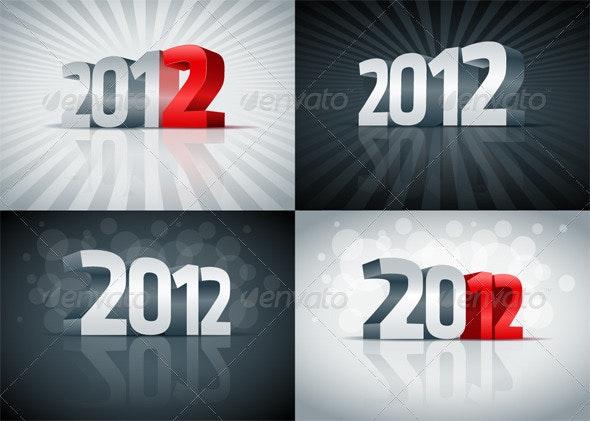 3D 2012 set. - New Year Seasons/Holidays