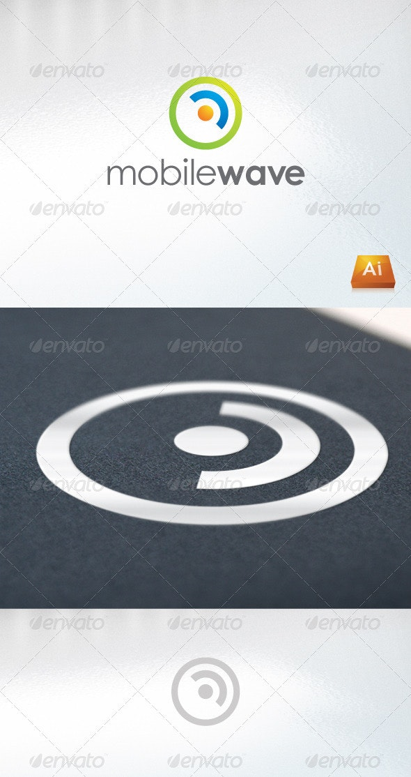 mobile wave - Abstract Logo Templates