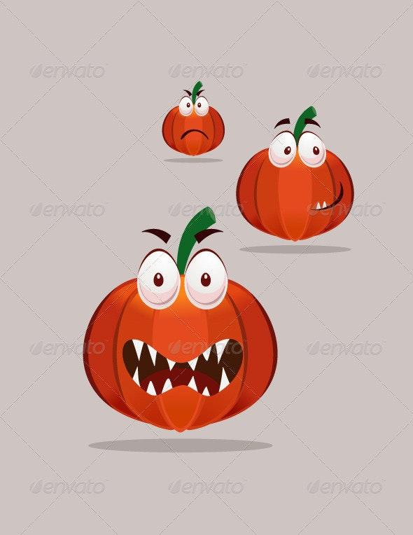 Halloween Pumpkin Mascot - Characters Vectors