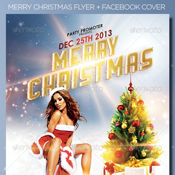 Merry Christmas Flyer + FB Cover