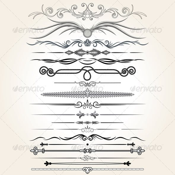 Decorative Dividers. Collection of Design Elements