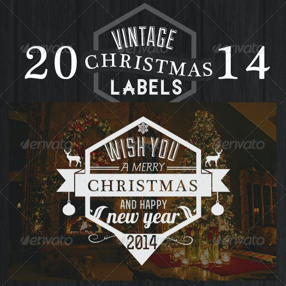 Vintage Christmas Labels