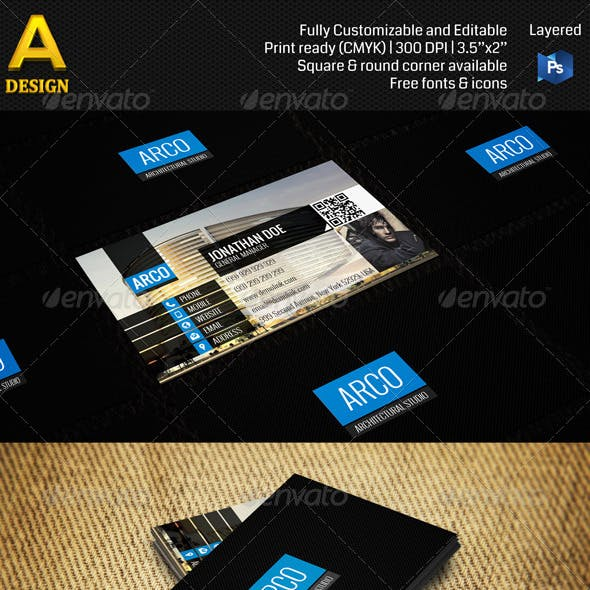 Architectural Corporate Business Card AN0124