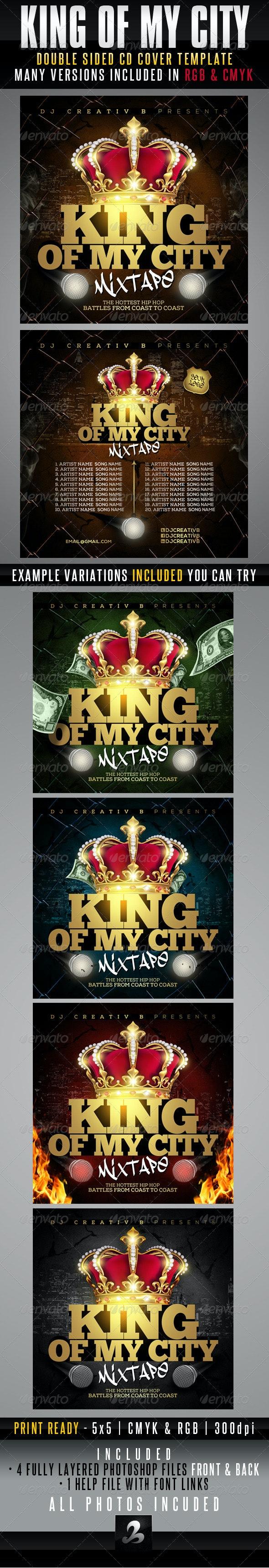 King Of My City Mixtape CD Cover Template - CD & DVD Artwork Print Templates