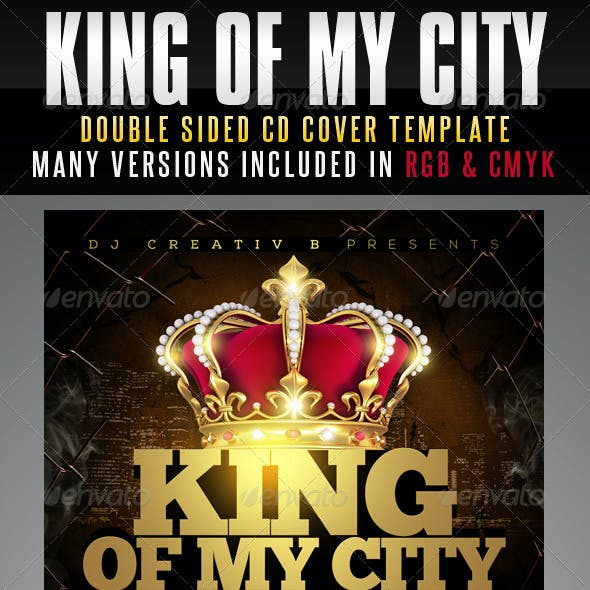 King Of My City Mixtape CD Cover Template