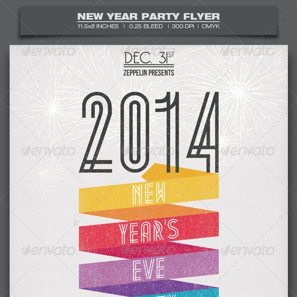 New Year Party - Event Flyer Template